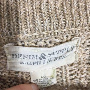 Denim & Supply Ralph Lauren Sweaters - Denim & Supply • chunky knit cowl button sweater